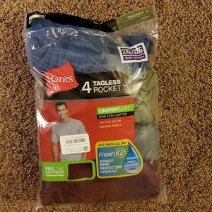 4 pack 2xl short sleeve tagless shirts